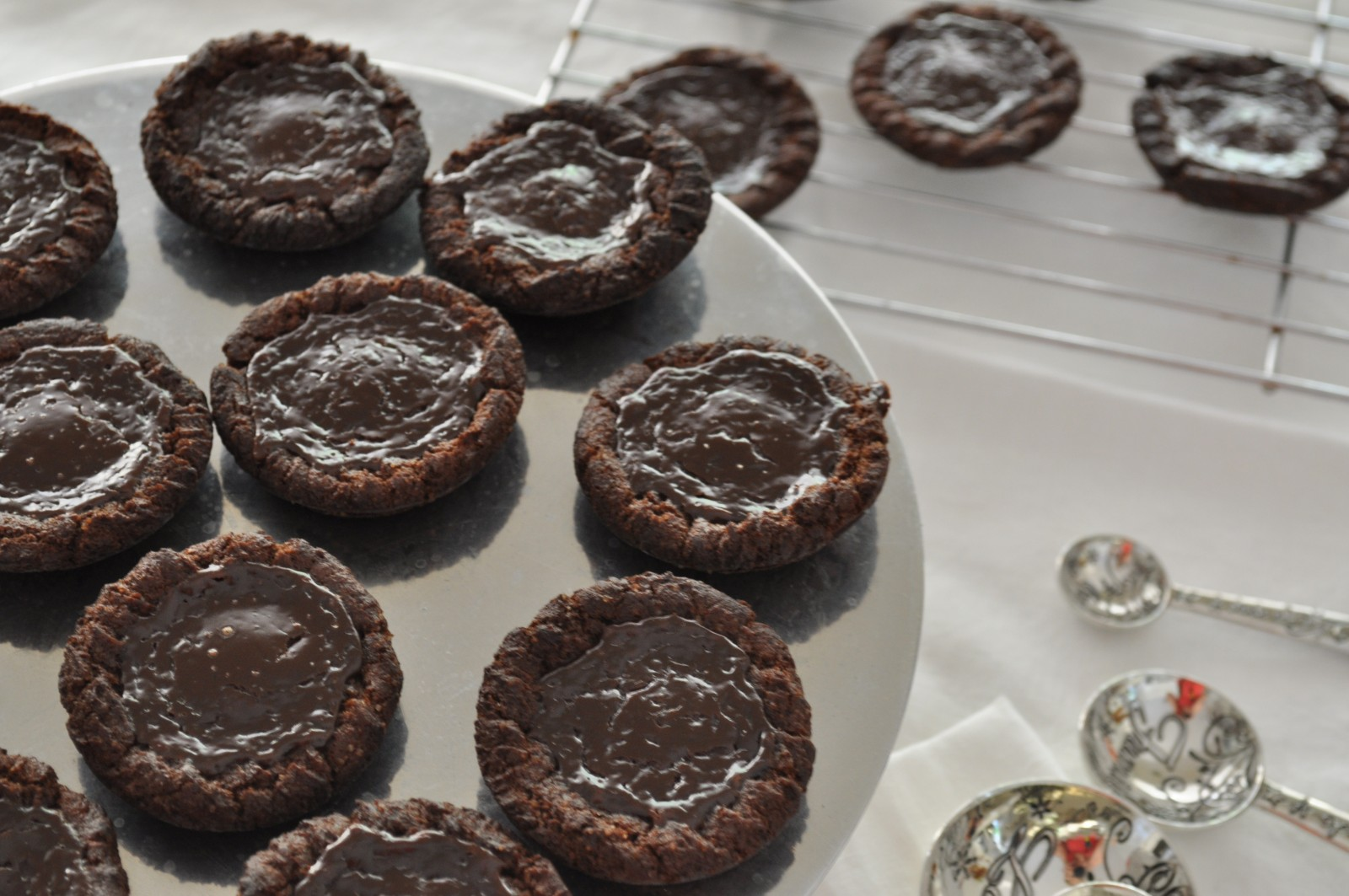 Salted caramel chocolate tarts – death by chocolate sweet adventures blog hop