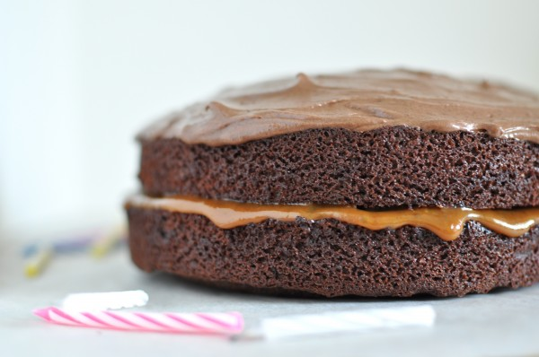 Salted Caramel Filled Chocolate Cake Happy Birthday To Me Claire K Creations