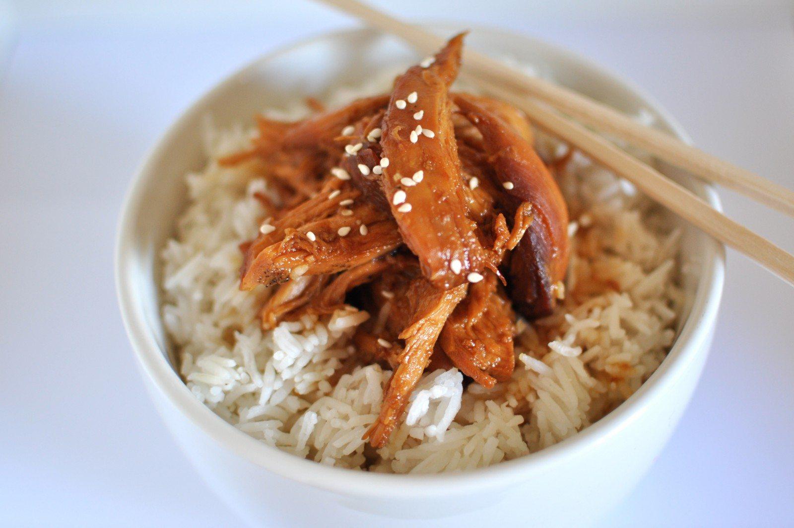 Teriyaki chicken in the slow cooker