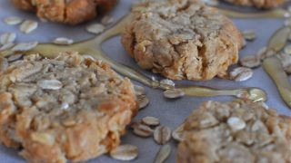 Honey and oat biscuits