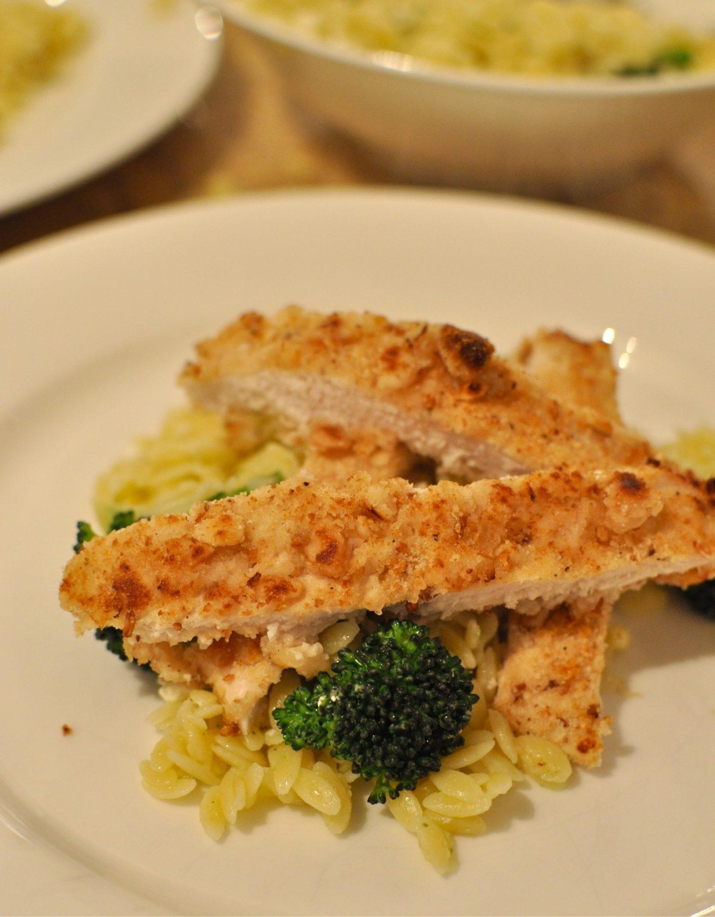 Macadamia crumbed chicken – my perfect chicken schnitzel