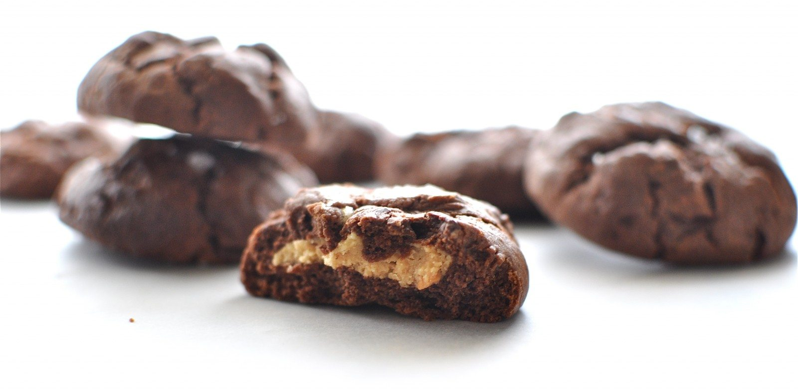 Double chocolate peanut butter biscuits