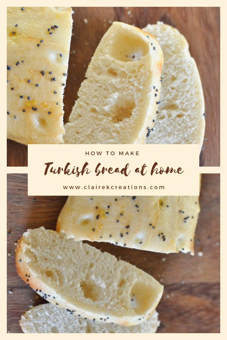 How to make Turkish bread via www.clairekcreations.com
