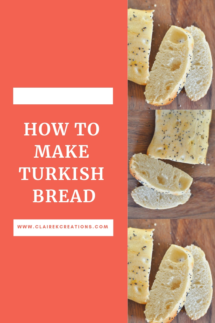 How to make Turkish bread via www.clairekcreations.com