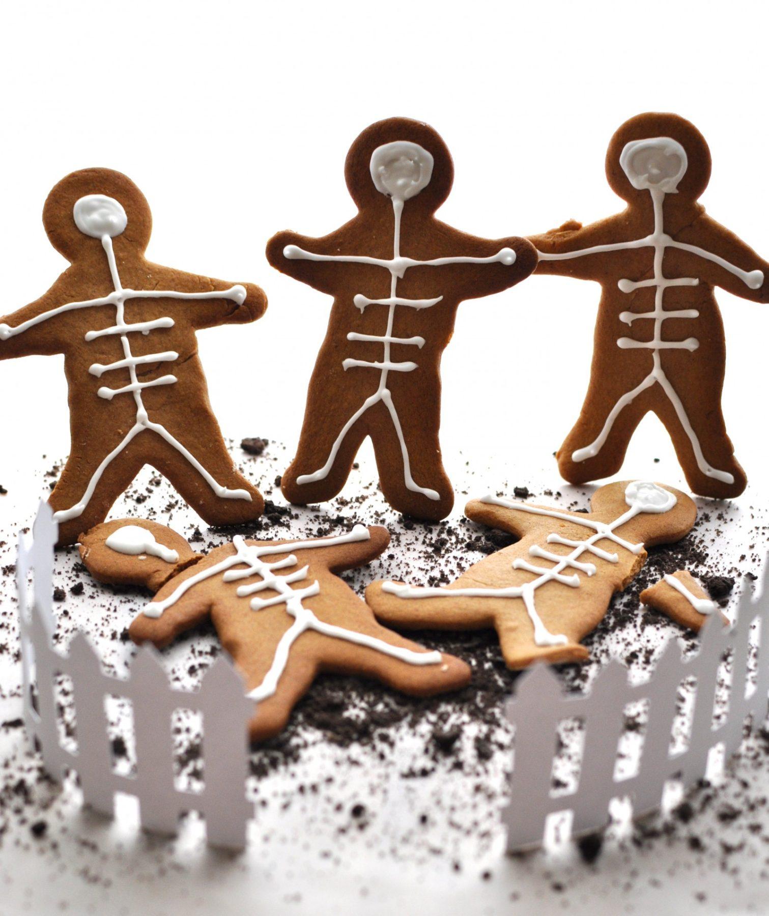 Spooktacular skeleton biscuits
