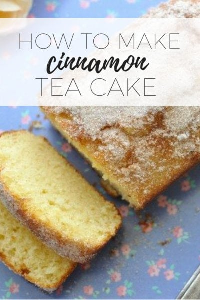 How to make cinnamon tea cake via www.clairekcreations.com