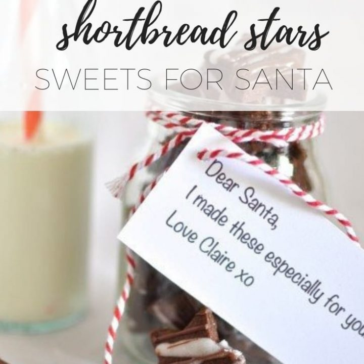 Chocolate spiced shortbread stars - Sweets for Santa via www.clairekcreations.com