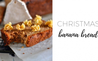 Christmas banana bread