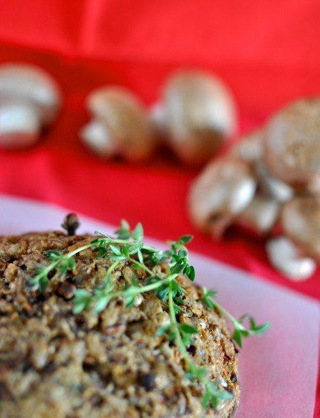 Christmas stuffed mushrooms
