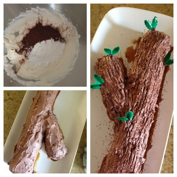Chocolate ripple log