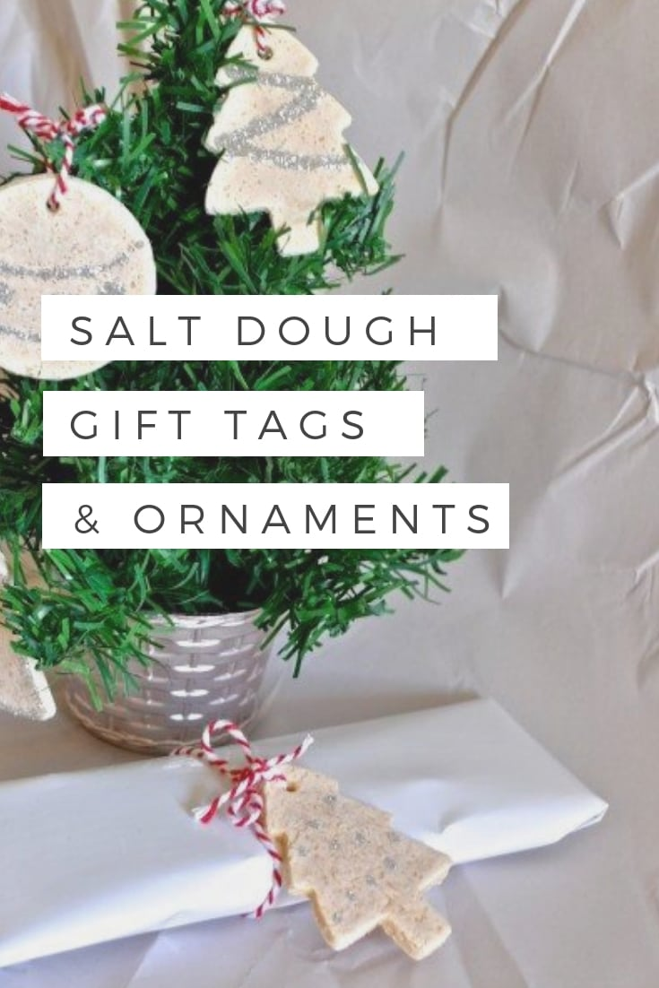 Salt dough gift tags and ornaments for Christmas