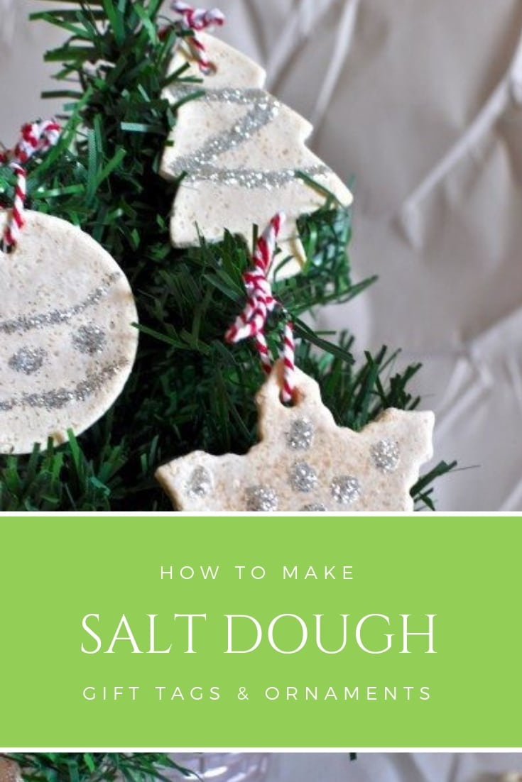 Salt dough gift tags and ornaments for Christmas