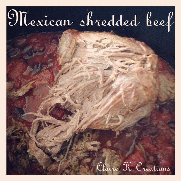 Mexican shredded beef in the slow cooker