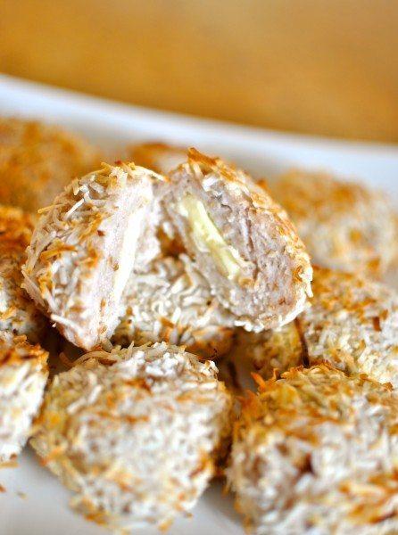 Haloumi stuffed coconut chicken nuggets