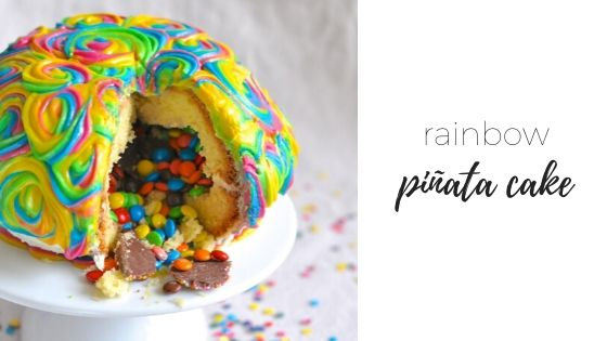 Rainbow Pinata cake – Happy Birthday to me!