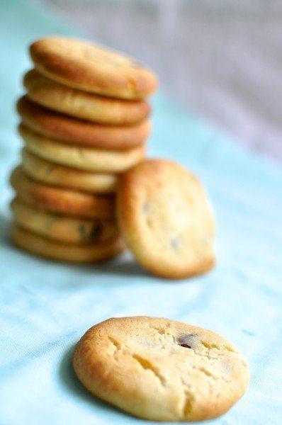 Condensed milk chocolate chip biscuit
