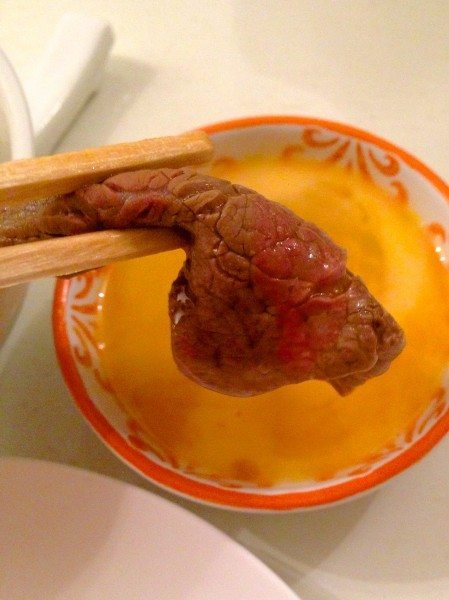 Dip the meat in beaten egg