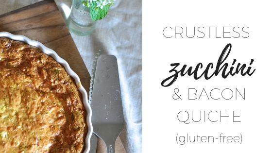 Zucchini and bacon crustless quiche – with gluten-free option