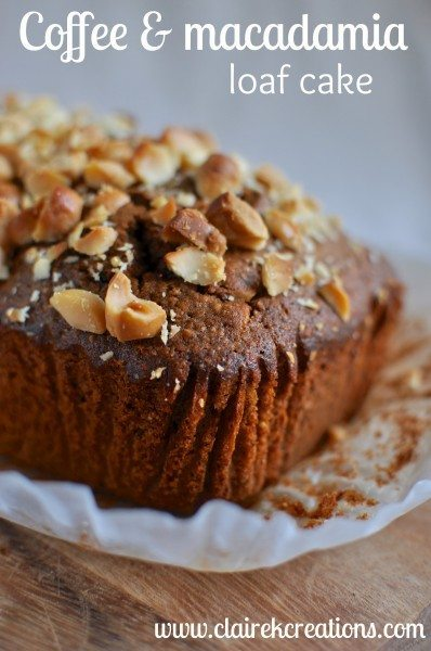 Coffee and macadamia loaf cake