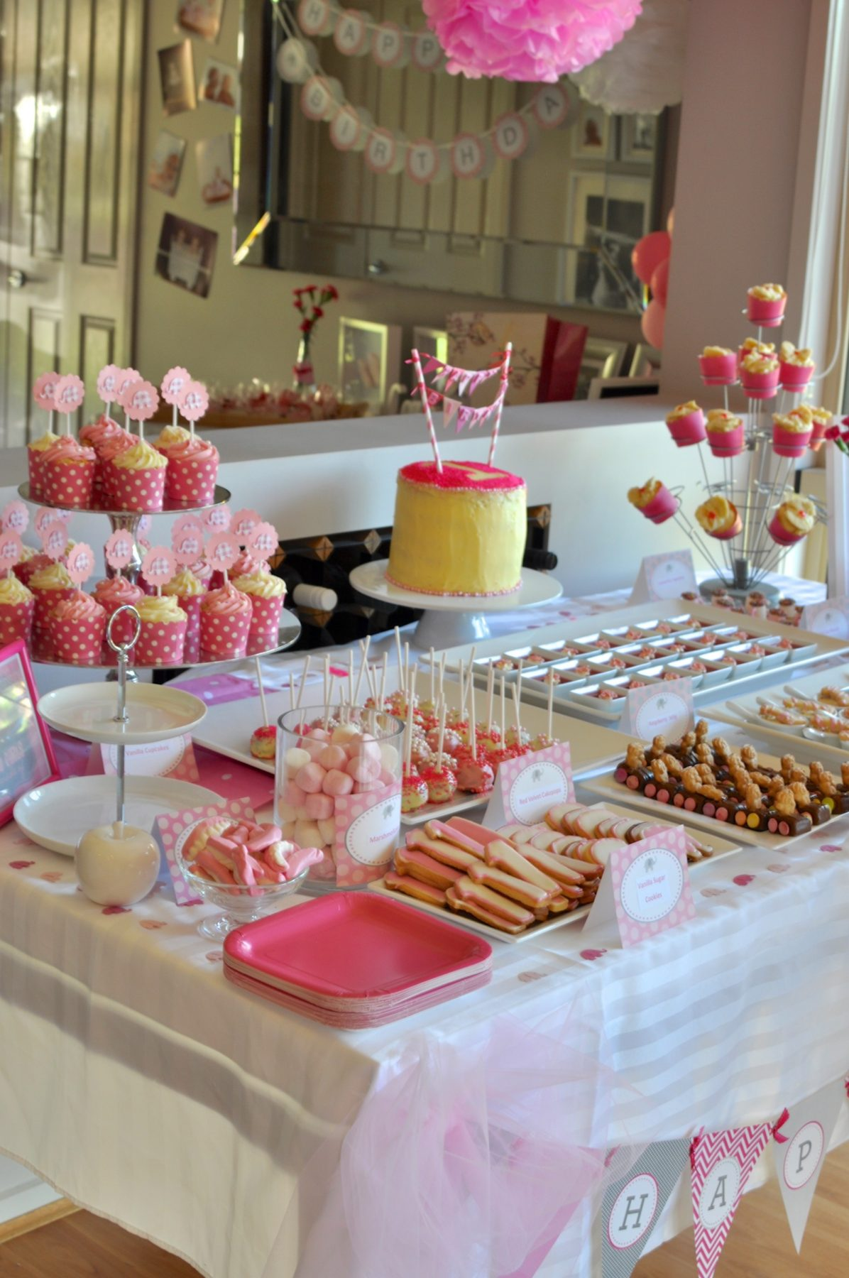 A Pretty Pink First Birthday Party Claire K Creations