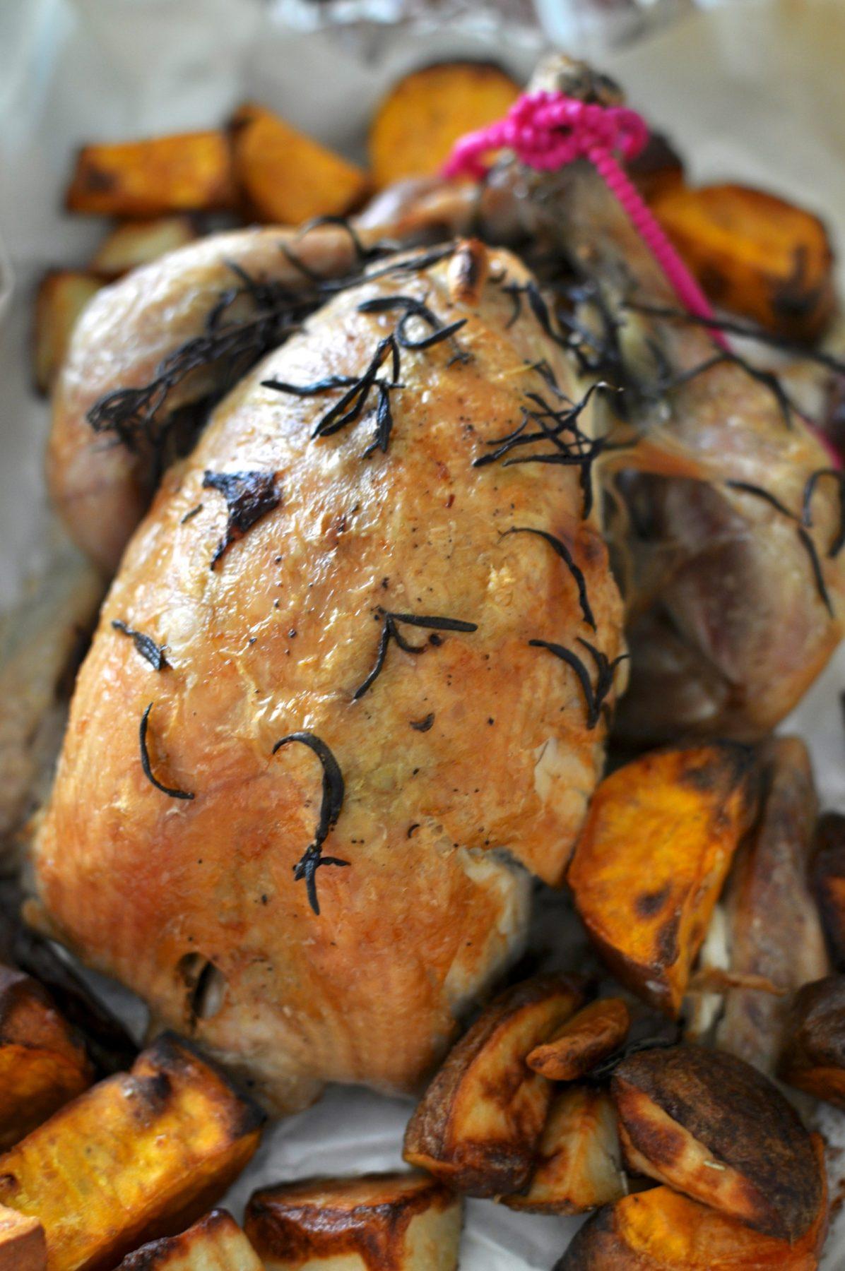 Roast chicken in the slow cooker