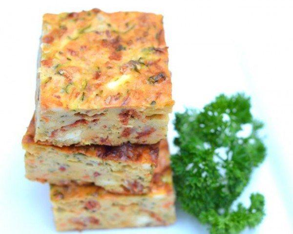 Zucchini chorizo and feta slice - Miss Foodie