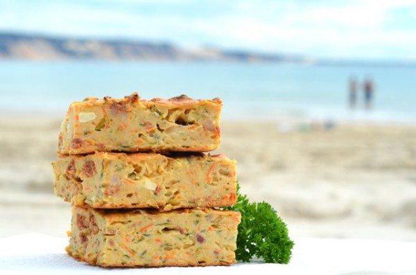 Zucchini chorizo and feta slice seaside - Miss Foodie