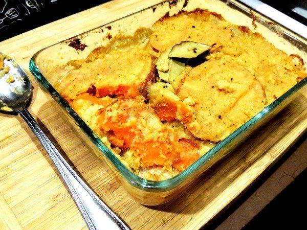 Vegan sweet potato bake