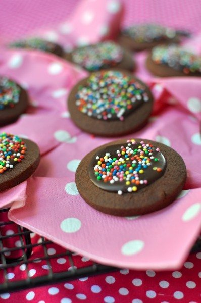 Chocolate freckle biscuits