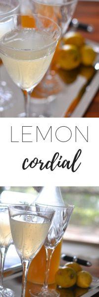 Homemade lemon cordial recipe. Easy recipe for homegrown lemons.