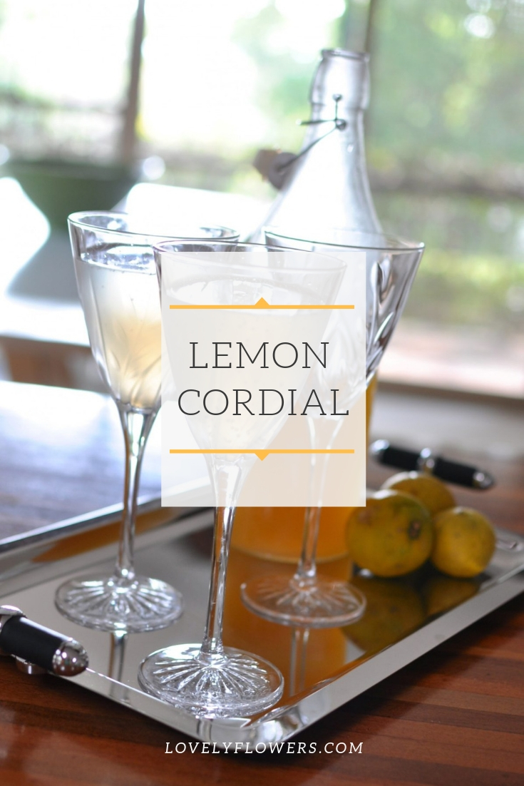 lemon cordial homemade recipe via www.clairekcreations.com