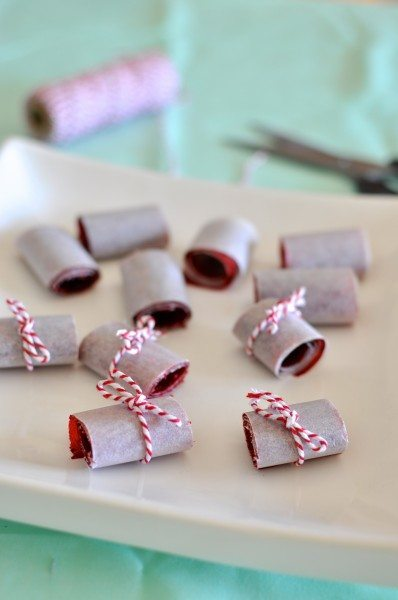 Berry mango roll-ups