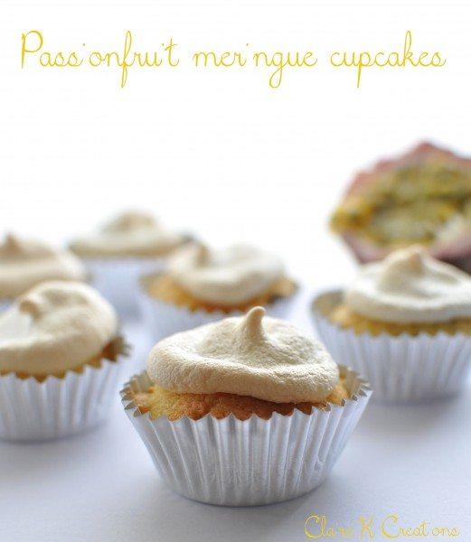 Passionfruit meringue cupcakes
