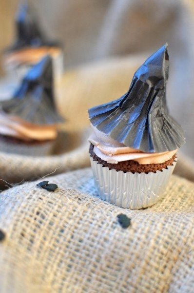 Choc hazelnut witches cupcakes