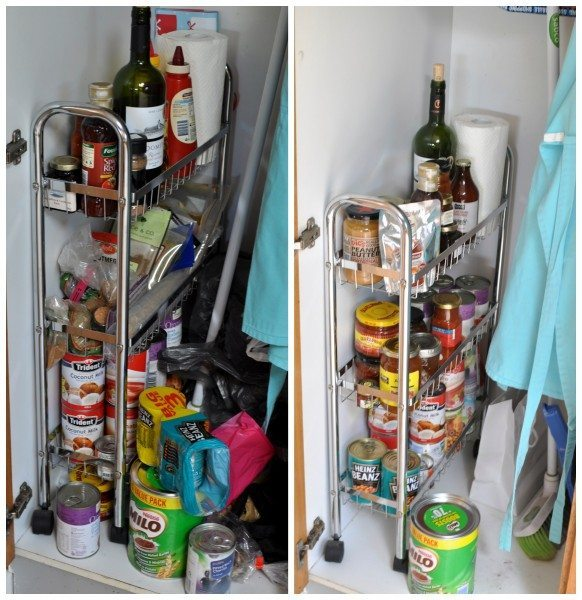 Before and after small cupboard