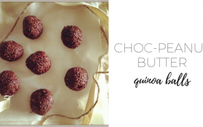 Choc peanut butter quinoa balls