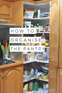 How to organise the pantry via www.clairekcreations.com