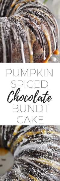 Pumpkin spiced chocolate bundt cake