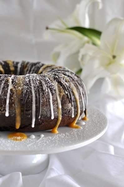 Chocolate spiced pumpkin bundt cake