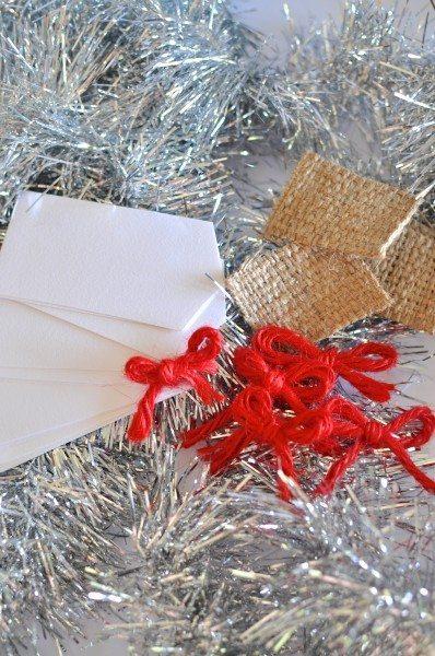 Homemade Christmas gift tags via www.clairekcreations.com