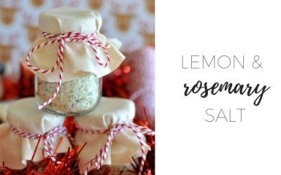 Lemon and rosemary salt
