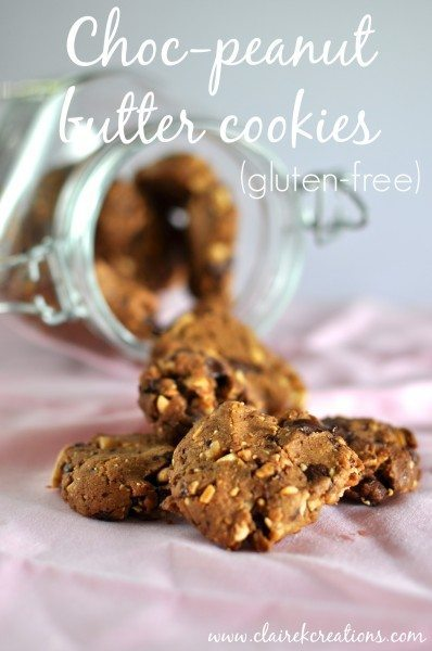 Gluten free Chocolate peanut butter biscuits via www.clairekcreations.com