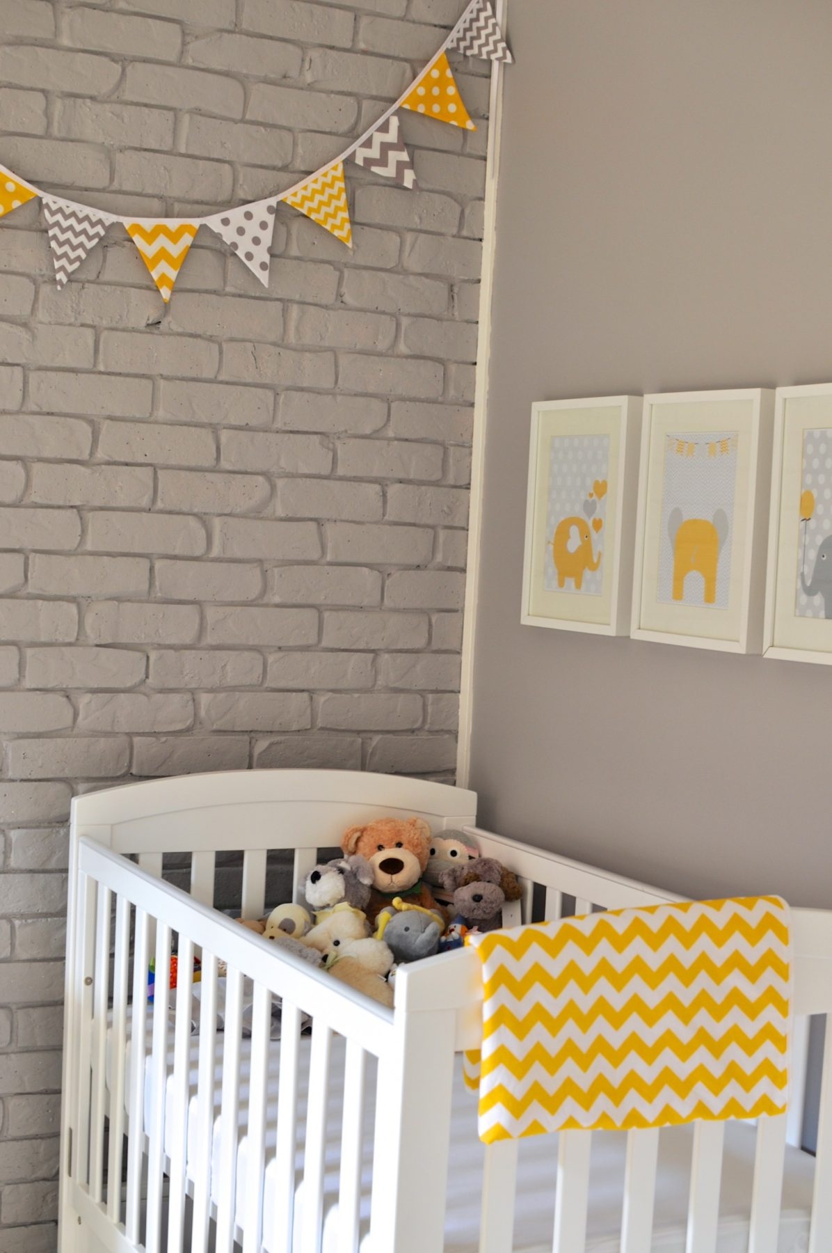 A grey and yellow nursery