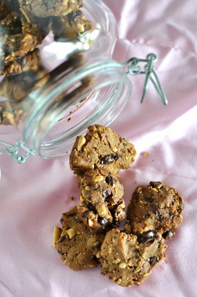 Gluten free Chocolate peanut butter cookies via www.clairekcreations.com