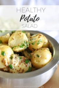Healthy Potato Salad via www.clairekcreations.com