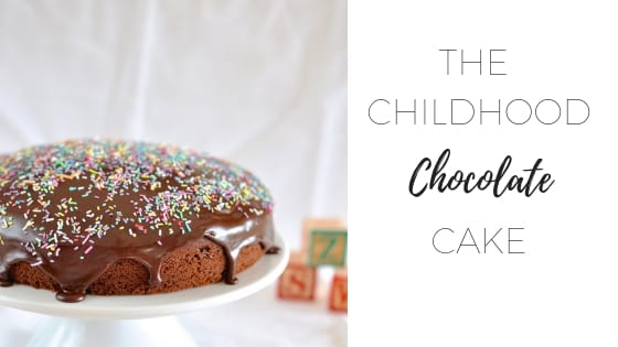 The childhood chocolate cake