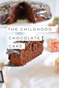 The childhood chocolate cake via www.clairekcreations.com