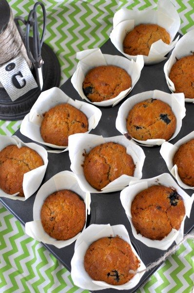 Orange passionfruit and blueberry muffins via www.clairekcreations.com