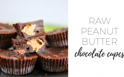 Raw peanut butter chocolate cups