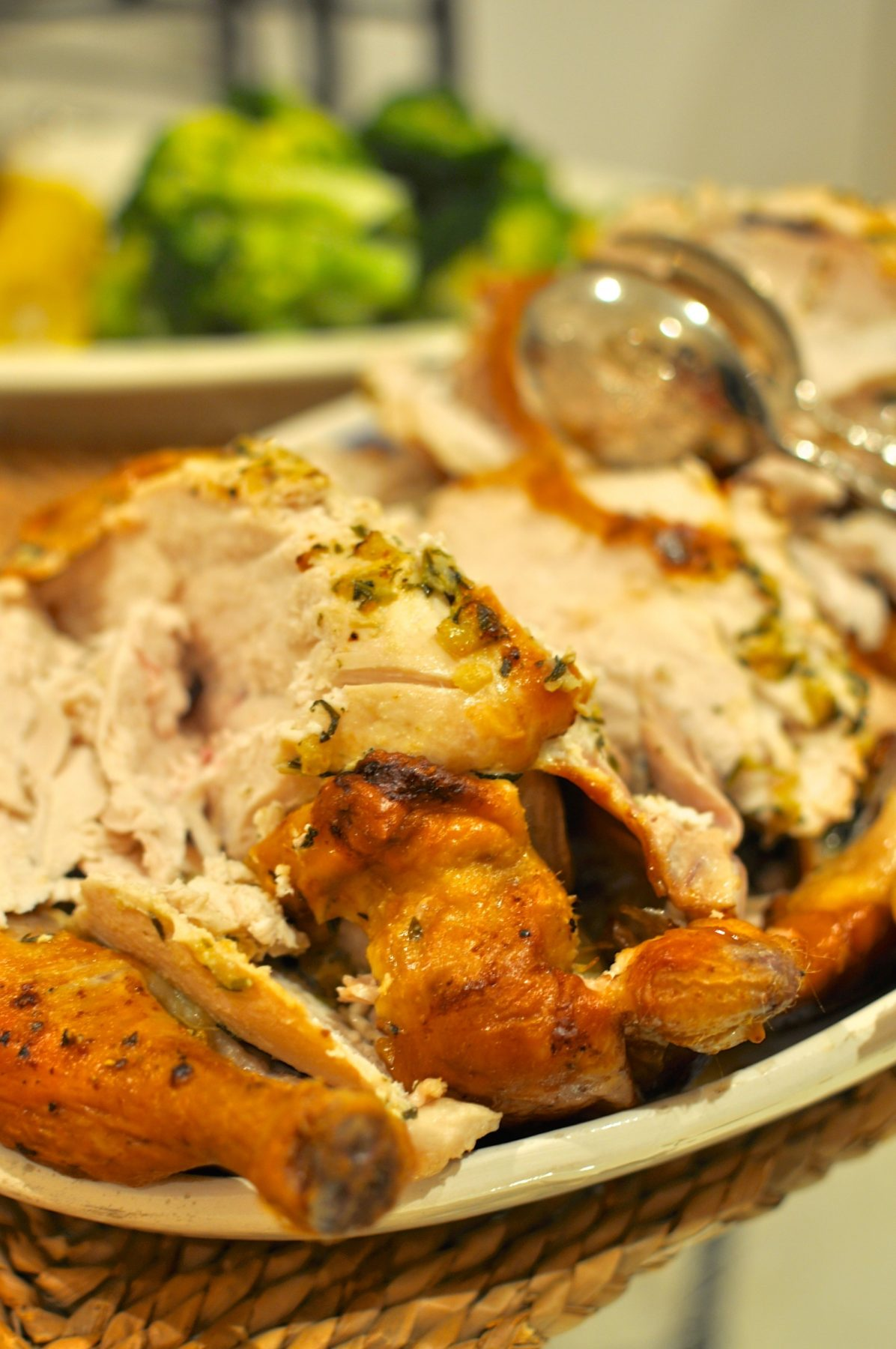 Roast chicken with preserved lemon and butter